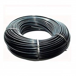 Flexible 4,5x6,5 mm black micro tube. Coil 50 mts