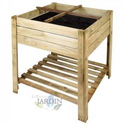 Mesa de cultivo madera cuadrado 80 x 80 x 80 cm