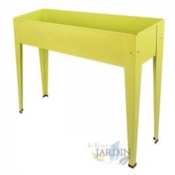 Rectangular metal grow table 98 x 25 x 82 cm yellow