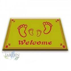 Doormat 40x60 cm welcome green