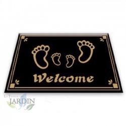 Doormat 40x60 cm welcome black