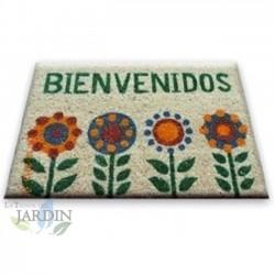 Doormat 40x60 cm welcome 4 flowers