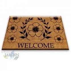 Doormat 40x60 cm welcome flowers