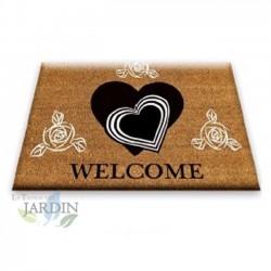 Doormat 40x60 cm welcome hearts