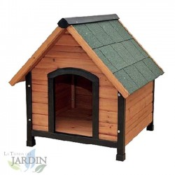 Caseta perros madera 77x88x79 cm