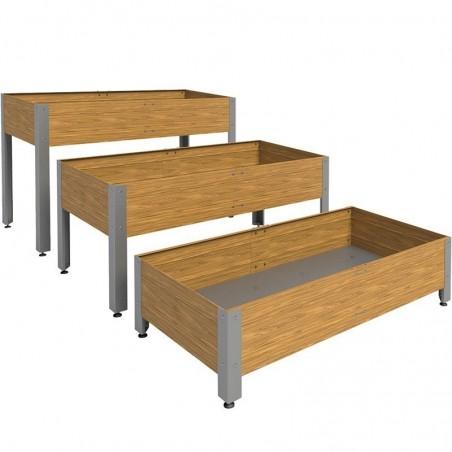 Mesa de cultivo de madera 146x72 cm 275 litros