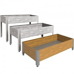 Mesa de cultivo de madera 146 x 72 x 40 cm