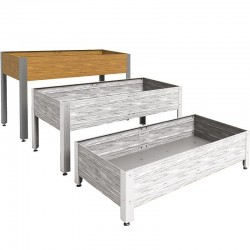Mesa de cultivo de madera 146 x 72 x 90 cm