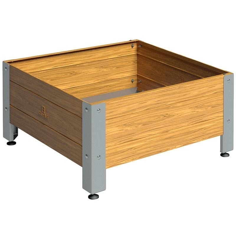 Mesa de cultivo de madera 72 x 72 x 40 cm