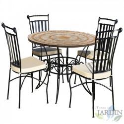Conjunto cerámica mesas y sillas de jardín Granada