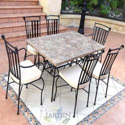 Conjunto cerámica mesas y sillas de jardín Córdoba
