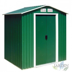 Caseta metálica Verde 2,71 m2 195x213x127 cm