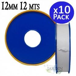 Cinta de teflón profesional 12mm 12 metros. 10 unidades