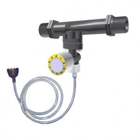 Inyector venturi de fertilizante 32Ø 7mm con llave dosificadora