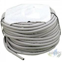 Tuyau flexible blanc de 8 x 14 mm. Bobine de 50 mètres