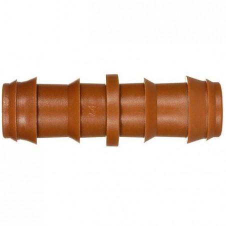 Enlace riego por goteo 16mm marrón