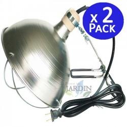 Juego 2 porta-lámparas infrarojo con protector