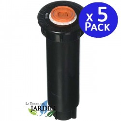 Difusor de riego Rain Bird 1804SAM, 10 cm altura vástago. Pack 5 unidades.