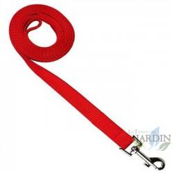 Correa nylon perros 200cm roja
