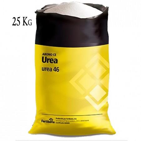 Fertilizante Nitrogenado UREA 46%, saco 25 Kg