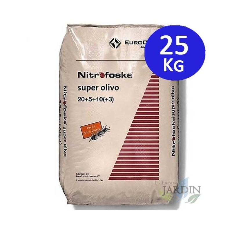 Abono 25Kg Super Olivo Nitrofoska 20-5-10 + MG + S + Fe + Zn
